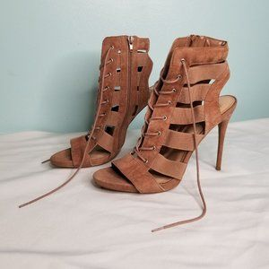 STEVE MADDEN brown ankle heels